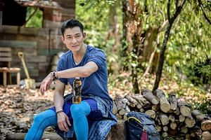Heavenly King Andy Lau (above) fell off a horse during filming for a commercial in rural Thailand.