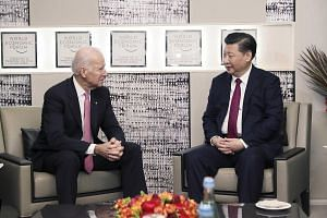 Mr Biden and Mr Xi meeting on the sidelines of the WEF in Davos. Mr Biden chose to deliver his last official speech in Davos, while Mr Xi was the first president from China to address the forum. Both men gave a robust defence of an open, liberal worl