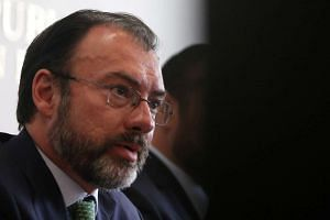 Mexico's Foreign Minister Luis Videgaray attends a news conference after a meeting about foreign affairs at the Senate of the Republic building in Mexico City.