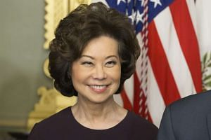 Elaine Chao attends a ceremony in which she is sworn-in as Secretary of Transportation in the Eisenhower Executive Office Building at the White House complex in Washington, DC, US, on Jan 31, 2017.