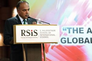 Law and Home Affairs Minister K Shanmugam speaking at the RSIS Studies in Inter-Religious Relations in Plural Societies symposium on Feb 1, 2017.