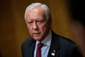 Committee chairman Orrin Hatch (R-UT) speaks with reporters following a meeting of the Senate Finance Committee to vote on the nominations of cabinet nominees Tom Price and Steve Mnuchin, on Capitol Hill, on Feb 1, 2017 in Washington, DC.