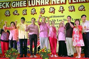 Prime Minister Lee Hsien Loong at the Teck Ghee Lunar New Year Celebration Dinner 2017.