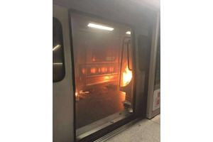 A fire broke out on a Hong Kong train at the Tsim Sha Tsui station on Friday (Feb 10).