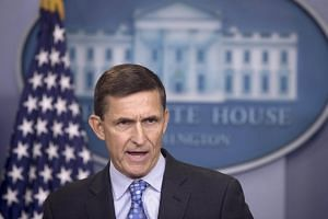 Michael Flynn, speaking during a news briefing on Feb 1, 2017, in the James Brady Press Briefing Room of the White House in Washington, DC.