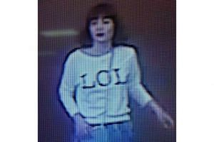 A screengrab from a CCTV at Kuala Lumpur International Airport 2 purporting to show one of the two women believed to be one of the assassins who killed Kim Jong Nam.
