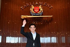 Arrival of Finance Minister Heng Swee Keat at the Parliament House for the delivery of his Budget speech on Feb 20, 2017.