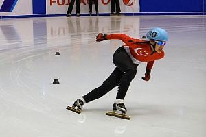 Cheyenne Goh was fifth in her 1,500m short-track speed skating semi-final at the Asian Winter Games in Sapporo, Japan and did not make the B final.