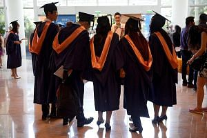 A joint survey of 10,904 fresh graduates conducted last November showed that graduates from SMU fared the best, with 93.8 per cent of them becoming employed within six months of their final exams. At NUS and NTU, the figure was about 90 per cent. SMU