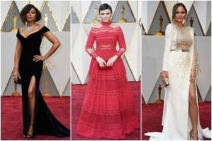 (From left) Actress Taraji P. Henson, actress Ginnifer Goodwin and US model Chrissy Teigen arriving on the red carpet for the 89th Oscars on Sunday (Feb 26) in Hollywood, California.