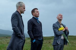From left: Jonny Lee Miller, Ewan McGregor and Ewen Bremner reprise their roles in T2 Trainspotting.