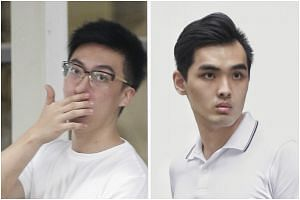 Walden Lee Guo Quan (left) and Ang Teck Wee were both sentenced to 21 months' probation and 180 hours' community service for cheating 11 people out of $7,670.