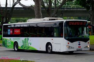A BYD K9 ebus fully electric bus in Singapore. The Land Transport Authority (LTA) will be calling tenders to buy 50 hybrid buses and 60 electric buses in 2017, Second Minister for Transport Ng Chee Meng announces on Wednesday, March 8, 2017.