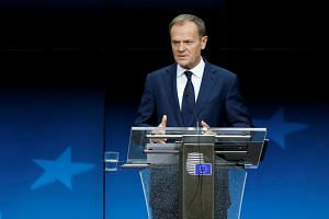 """Mr Donald Tusk, chairman of European Union leaders, told a news conference that 48 hours is """"a proper time to react""""."""