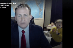 Robert E. Kelly, a political-science professor at Pusan National University in South Korea, was interrupted by two kids during a live skype interview.