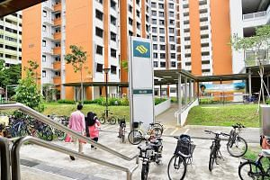 The walkway from the Khatib Court estate to Khatib MRT station stops 10m short of the station's main entrance. The HDB and LTA said the last part of the walkway has not been constructed because the area is a