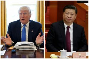 US President Donald Trump (left) is planning to host his Chinese counterpart Xi Jinping for a two-day summit at his Mar-a-Lago resort next month.