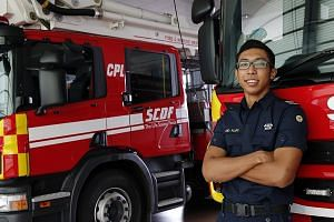 Rushing to the scene of fires and accidents to help save lives and property has become a day's work for Cpl Aliff, who enlisted in 2015 and serves at the Tampines Fire Station. Still, he and his team members never take the danger for granted, relying