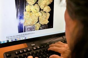 An online marketplace advertising the sale of drugs.