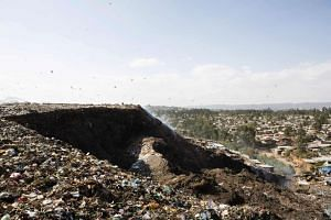 At least 30 people died in this giant landslide at Ethiopia's largest rubbish dump outside Addis Ababa.
