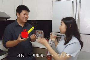 A Speak Mandarin Campaign video has been criticised for promoting the wrong use of the language.