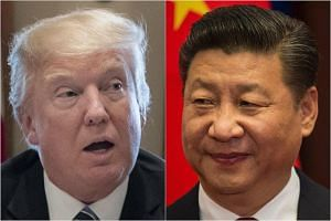 US President Donald Trump (left) is set to play host to Chinese President Xi Jinping at his Mar-a-Lago estate in Florida next month.