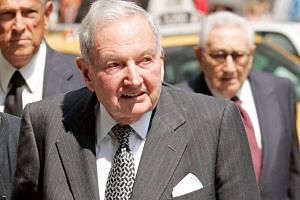 David Rockefeller died on Monday at his home in Pocantico Hills, New York. He was 101.