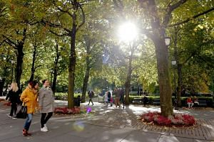 An autumn day in Oslo, capital of Norway, the country which has just topped the list of happiest countries in the world, according to the World Happiness Report 2017 produced by the Sustainable Development Solutions Network.