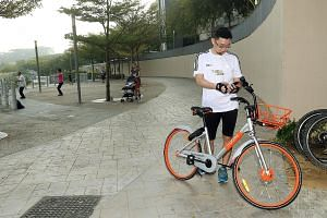 Brightly coloured bicycles from three firms - oBike, ofo and Mobike - can now be found at MRT stations, parks and the void decks of Housing Board flats islandwide.