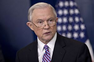IUS Attoney-General Jeff Sessions speaks during a White House briefing in Washington, DC on March 27, 2017.