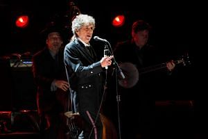 Bob Dylan performs during a segment honoring Director Martin Scorsese, recipient of the Music + Film Award, at the 17th Annual Critics' Choice Movie Awards in Los Angeles on Jan 12, 2012.