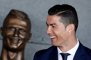 Cristiano Ronaldo attending the ceremony to rename Funchal airport as Cristiano Ronaldo Airport in Funchal.