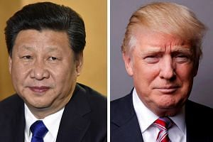 Chinese President Xi Jinping (left) will be meeting US President Donald Trump in April.