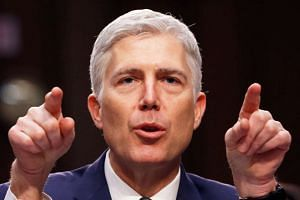 US Supreme Court nominee judge Neil Gorsuch testifies during the third day of his Senate Judiciary Committee confirmation hearing on Capitol Hill, on March 22, 2017.