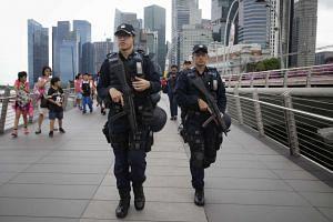The Emergency Response Team patrolling along the Jubilee Bridge, on July 22, 2016.