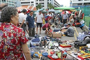 The original permit-holders at the Sungei Road flea market have been given the option of renting hawker centre stalls at subsidised rates after the market's last day on July 10.