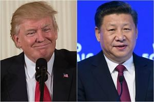 US President Donald Trump (left) and Chinese President Xi Jinping.