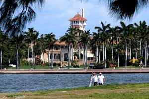 US President Donald Trump's Mar-a-Lago estate in Palm Beach is seen from West Palm Beach, Florida, US.