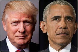 US President Donald Trump (left) and former US President Barack Obama.