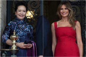 United States President Donald Trump and his wife Melania (right) met Chinese President Xi Jinping and his wife Peng Liyuan for the first time on on Thursday (April 6).