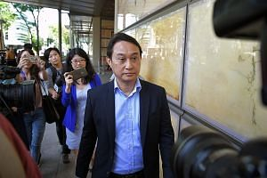 "Clockwise from top: Chew Eng Han; Kong Hee, flanked by lawyers Edwin Tong and Aaron Lee (far right); and Tan Ye Peng. In meting out the harshest sentence among the six church leaders to Kong, the judges agreed he was the ""ultimate leader"" of the five"
