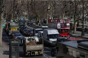 Traffic in central London on Feb 17, 2017.