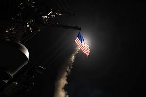 The guided-missile destroyer USS Porter (DDG 78) conducting strike operations while in the Mediterranean Sea on April 7, 2017.