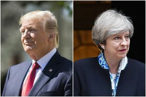 US President Donald Trump and British Prime Minister Theresa May.