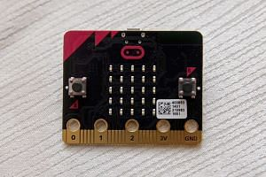 micro:bit, a pocket-sized codeable computer.