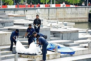 Police were alerted to the discovery of a body, found in the Singapore River and brought to shore near Esplanade Park, at around 8am yesterday.