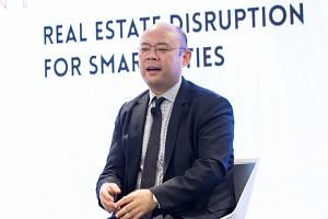 Mr Taizo Son, president and CEO of Mistletoe Inc, at a DBS workshop on digital transformation on April 17, 2017.
