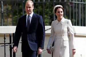 Prince William and Catherine, Duchess of Cambridge, attend an Easter Sunday service in London on April 16.