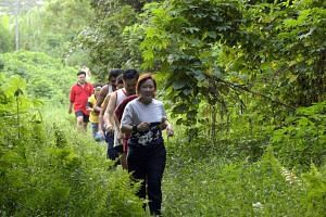 Runners at a running trail near Seletar Camp in a file photo.