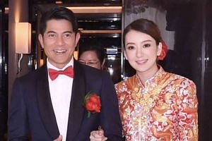 Aaron Kwok and Moka Fang at the wedding.